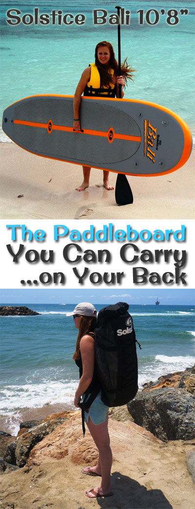 Solstice Bali Inflatable SUP - The Paddleboard You Can Carry on Your Back