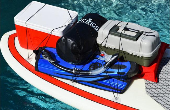 Super Stretch Kajak SUP Deck Cargo Netz Paddleboard Rigging Fracht Bungee