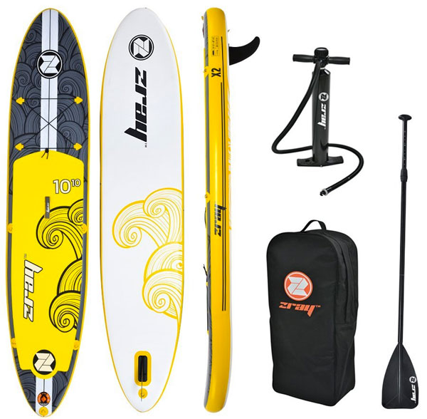 Z Ray Paddle Board Package with Inflatable SUP, Pump, Paddle and Backpack