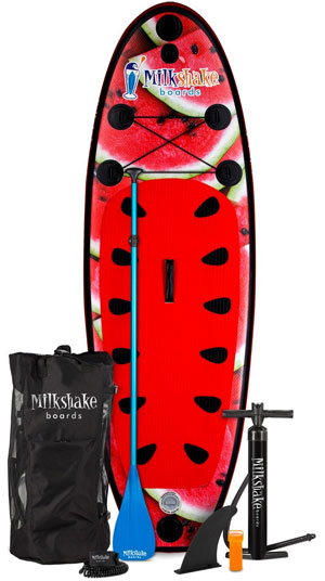 Kids SUP Package Complete with Board, Paddle, Air Pump, Fin, Carrying Bag and Repair Patch Kit