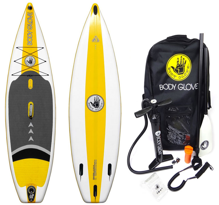 Body Glove Inflatable SUP Package, Inlcuding Pump, Paddle, Backpack and More