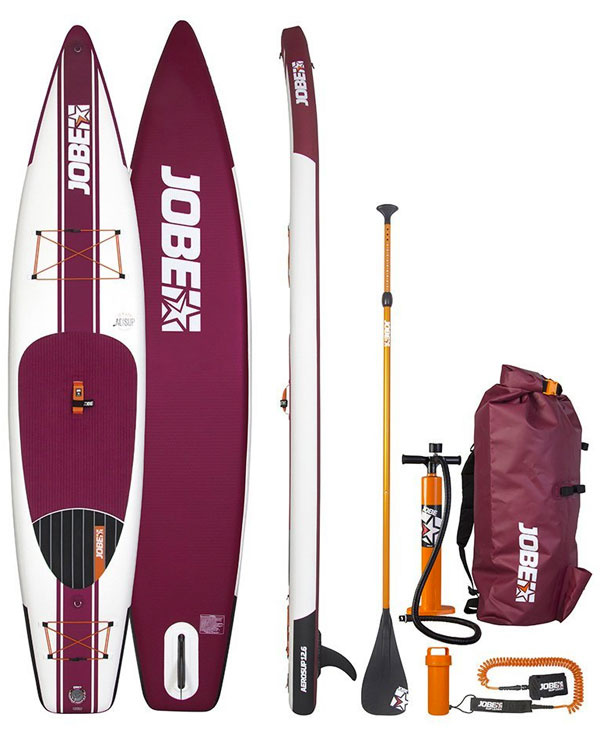 Jobe Aero SUP - 12 foot 6 inch Inflatable Paddleboard Package with pump, paddle, backpack