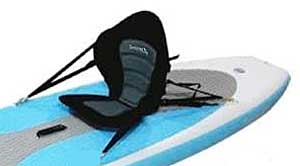 Kayak Seat Attached to Inflatable SUP