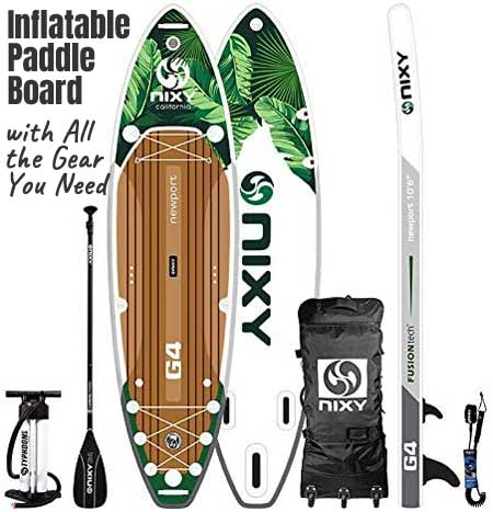 NIXY Newport Inflatable Paddle Board G4 with All the Gear You Need to Get Started