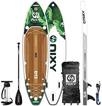 Nixy Paddle Board Package with Backpack, Pump, Paddle, Leash, Repair Kit