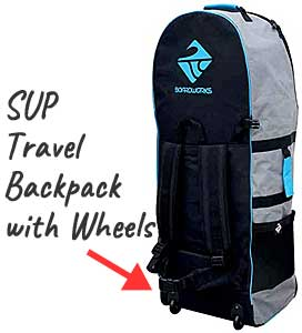 SUP Travel Backpack with Shoulder Straps & Wheels